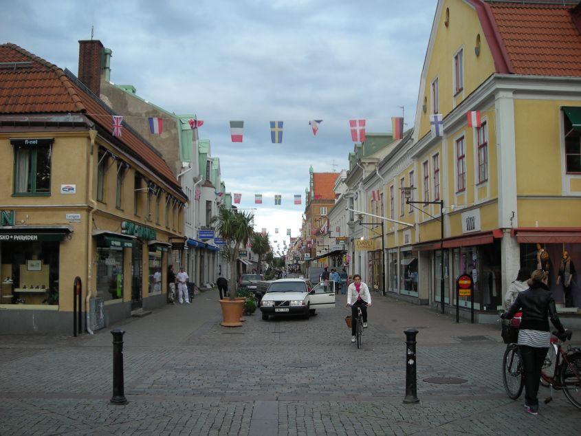 Kalmar - svugdje prisutni bicikli i zastave