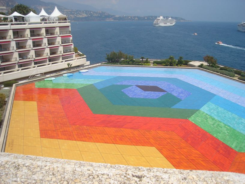 terasa hotela u Monte Carlu