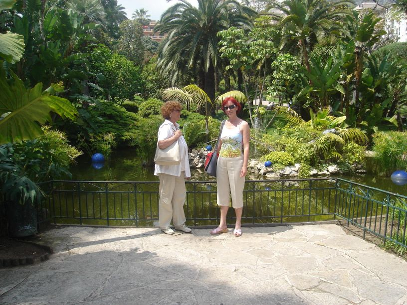u botaničkom vrtu Monte Carlo
