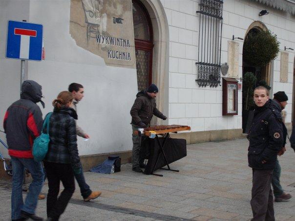 ulični glazbenici oko Rynek Glownya