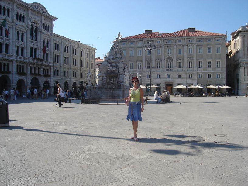 Fontana 4 kontinenta, na Trgu Ujedinjenjene Italije
