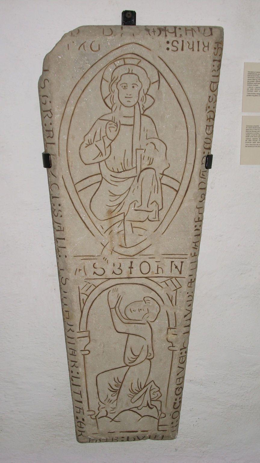 Nadgrobni kamen iz kripte katedrale Nidaros