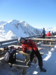 odmor na vrhu Valfrejusa