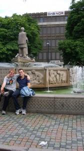 Drammen-pored fontane