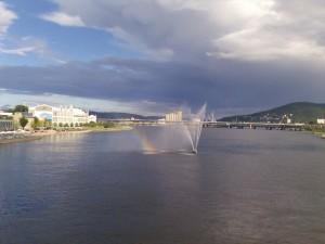 Drammen-vodoskok usred rijeke