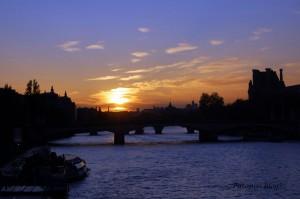 Seine - Sunset
