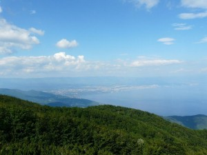 Pogled s planine Učka na Rijeku