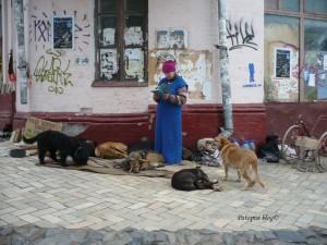 Žena na ulici Kijeva