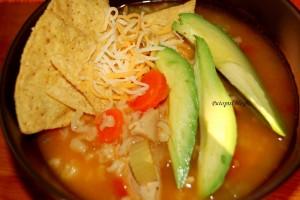 Meksička juha - posluzivanje