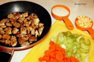 Meksička juha - priprema mesa