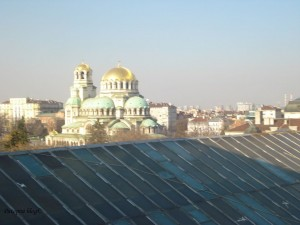 Katedrala Aleksandar Nevski, slika sa posljednjeg kata zgrade Sveučilišta