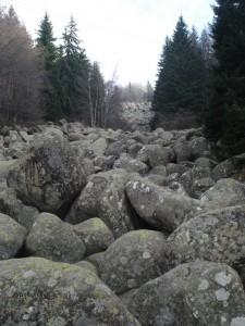 Morenite, kamena rijeka, ispod tece potočić