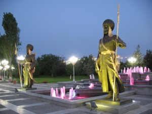 Stražari ispred fontane