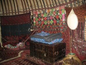 Unutrašnjost jurte