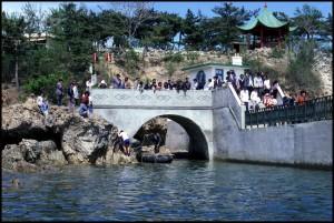 Nedovršena ukrcajna rampa u parku (obali mora)