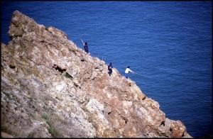Udičari na stijenama