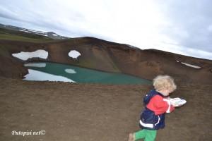 Krafla krater i jezero