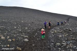 Na putu prema vrhu vulkana Krafla