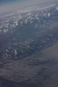 Pogled na planine Almate iz zraka