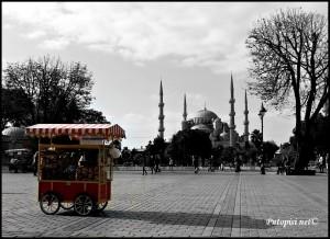 Plava džamija i prodavači salepa