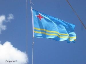 Aruba - zastava boje mora