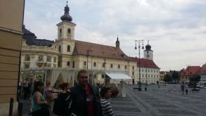 Naš predsjednik kluba na centralnom trgu grada Sibiu