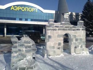 Ledene skulpture u Kazakhstanu