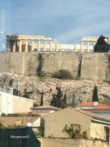 Pogled na Partenon iz muzeja