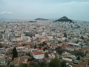 Pogled na Atenu sa Akropole