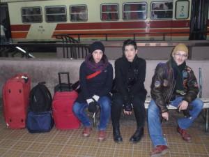 Marina, ja i Aldo čekamo vlak