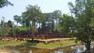 Banteay Srei, pogled sa zapadne strane