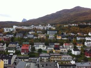 Uobičajeni tip drvenih kuća u Narviku