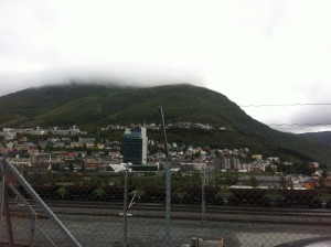 Željeznica i uobičajeno vrijeme u Narviku