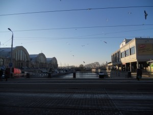 Centralna tržnica, lučki most i autobusni kolodvor