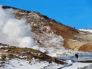 Izvor pare na brdu gdje Islanđani mjere kakvoću vode
