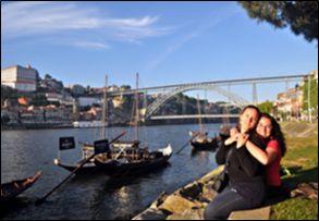Ponte do Sao Luis i tradicionalni brodić rabelo