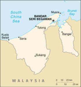 geografski položaj Bruneja
