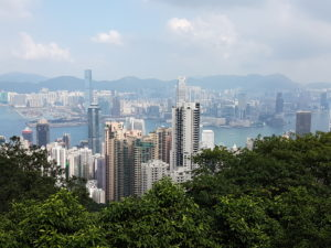Pogled na Hong Kong danju