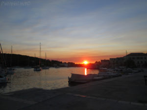 Putopis Prvić: zalazak sunca