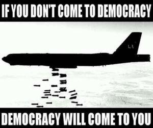 Ovo se ne odnosi na npr. Saudijsku Arabiju koja zatire demokraciju gdje god može, ali je dobar kupac oružja