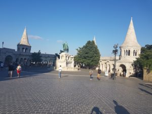 Kip Stjepana I., prvog ugarskog kralja, na Ribarskoj utvrdi