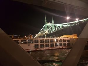 Pozdrav još jednoj grupi turista u noćnoj vožnji Dunavom
